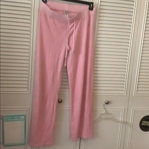 Juicy couture velour pink sweatpants